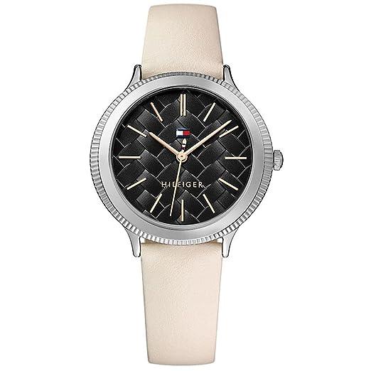 Tommy Hilfiger Reloj Analógico para Mujer de Cuarzo con Correa en Cuero 1781858: Amazon.es: Relojes