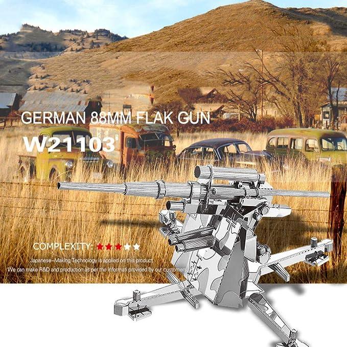 Alemania 88 MM Arma antiaérea 3D Metal montado Modelo DIY ...
