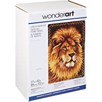 Spinrite Wonderart Latch Hook Kit, 27 by 40-Inch, Lion