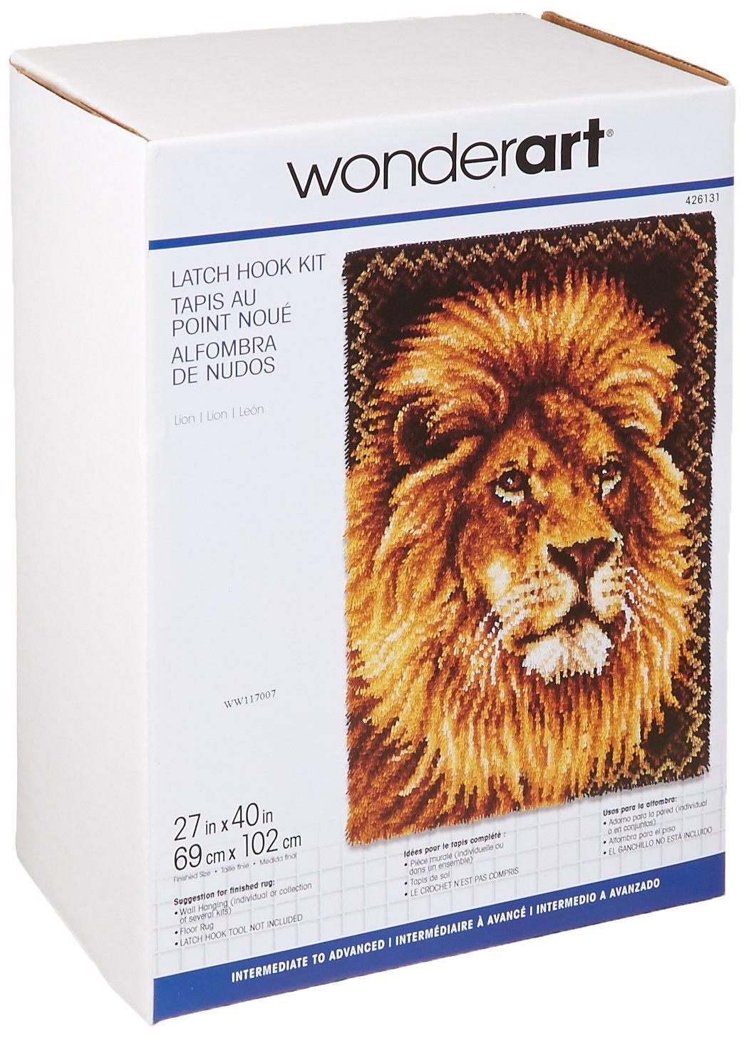 Wonderart Lion Latch Hook Kit, 27