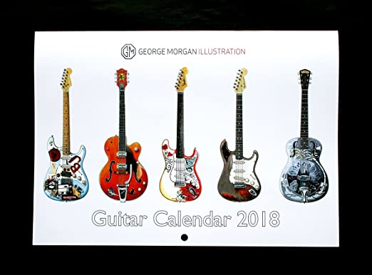George Morgan Illustration Calendario de Guitarra 2018: Amazon.es ...