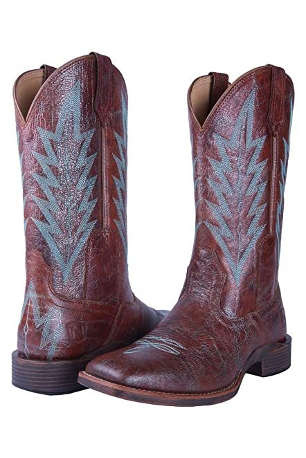 Noble N66030-141 Womens Distressed Cognac Dakota All-Around Square Toe Boot 7 E US