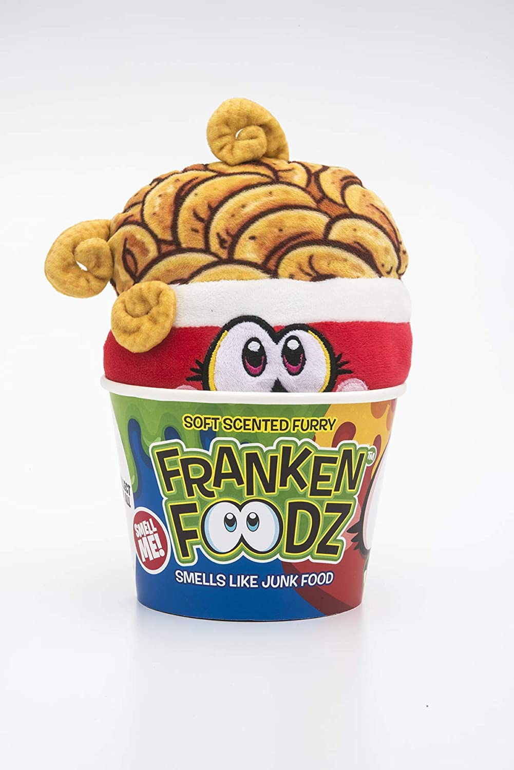 Franken FOODZ - Super Size Curlie Frye French Fry Scented Plush Toy for Kids | Soft Squeezable Furry Plush Toys for Kids | Sensory Stress Relief Toy Smells Awesome Like The Real Food | Large Size