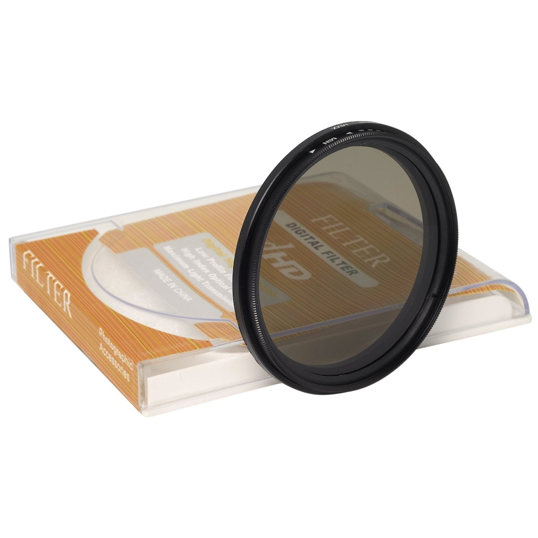 Fader 58mm delgado ND Variable filtro de densidad neutra ajustable ND2 a ND400 Para Canon 1DX 5D Mark 5D2 5D3 6D 7D 70D 60D 700D 650D 1100D 1000D 600D 50D 550D 500D 40D 30D 350D 400D 450D 30D 10D LF111