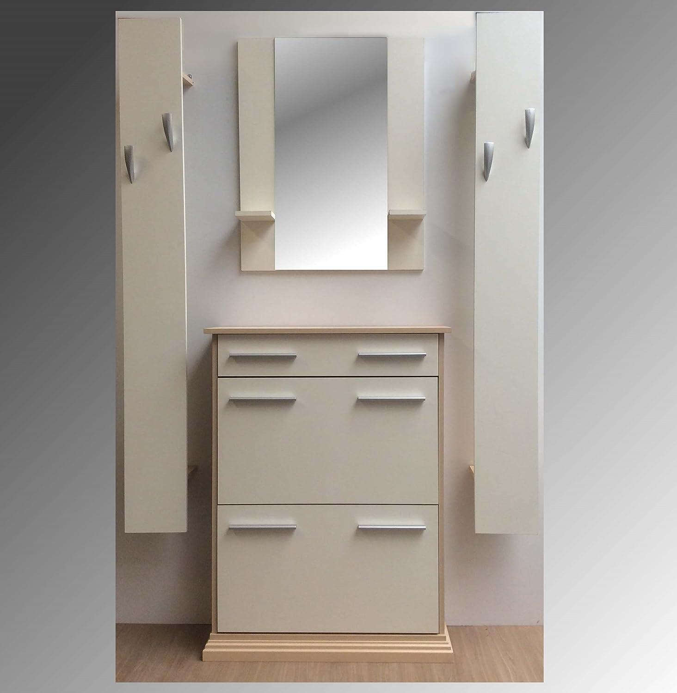 Spiegel Flur garderobenset flur garderobe dielenmöbel ahorn vanille schuhschrank