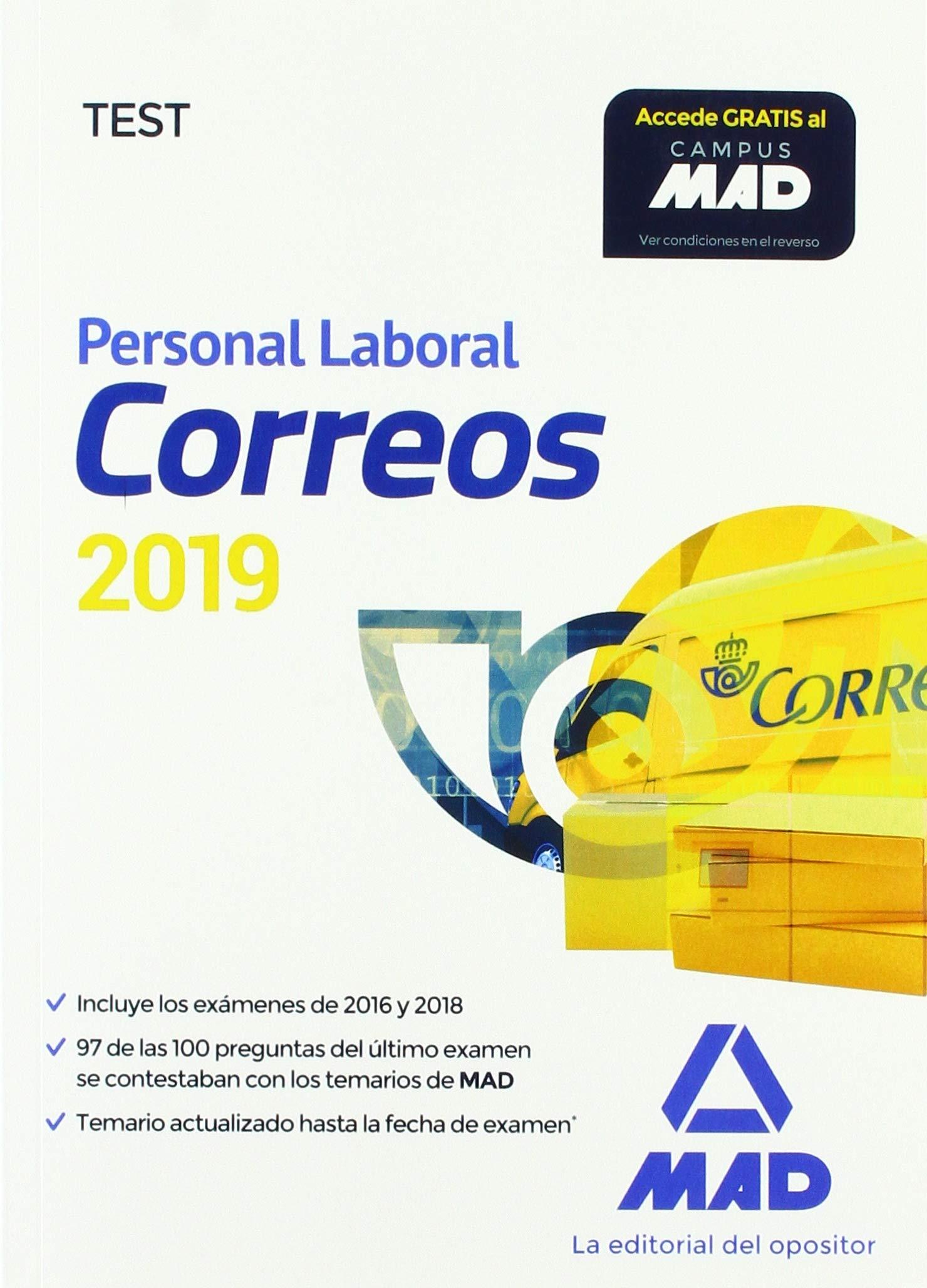 Personal Laboral de Correos y Telégrafos. Test: Amazon.es ...