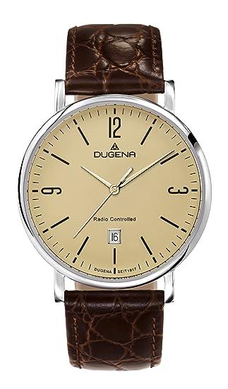 Dugena Mondo 4460557 – Reloj de pulsera analógico para hombre, radiocontrolado, con mecanismo de