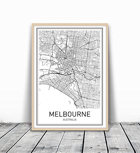 Melbourne poster melbourne map map of melbourne melbourne map print melbourne map