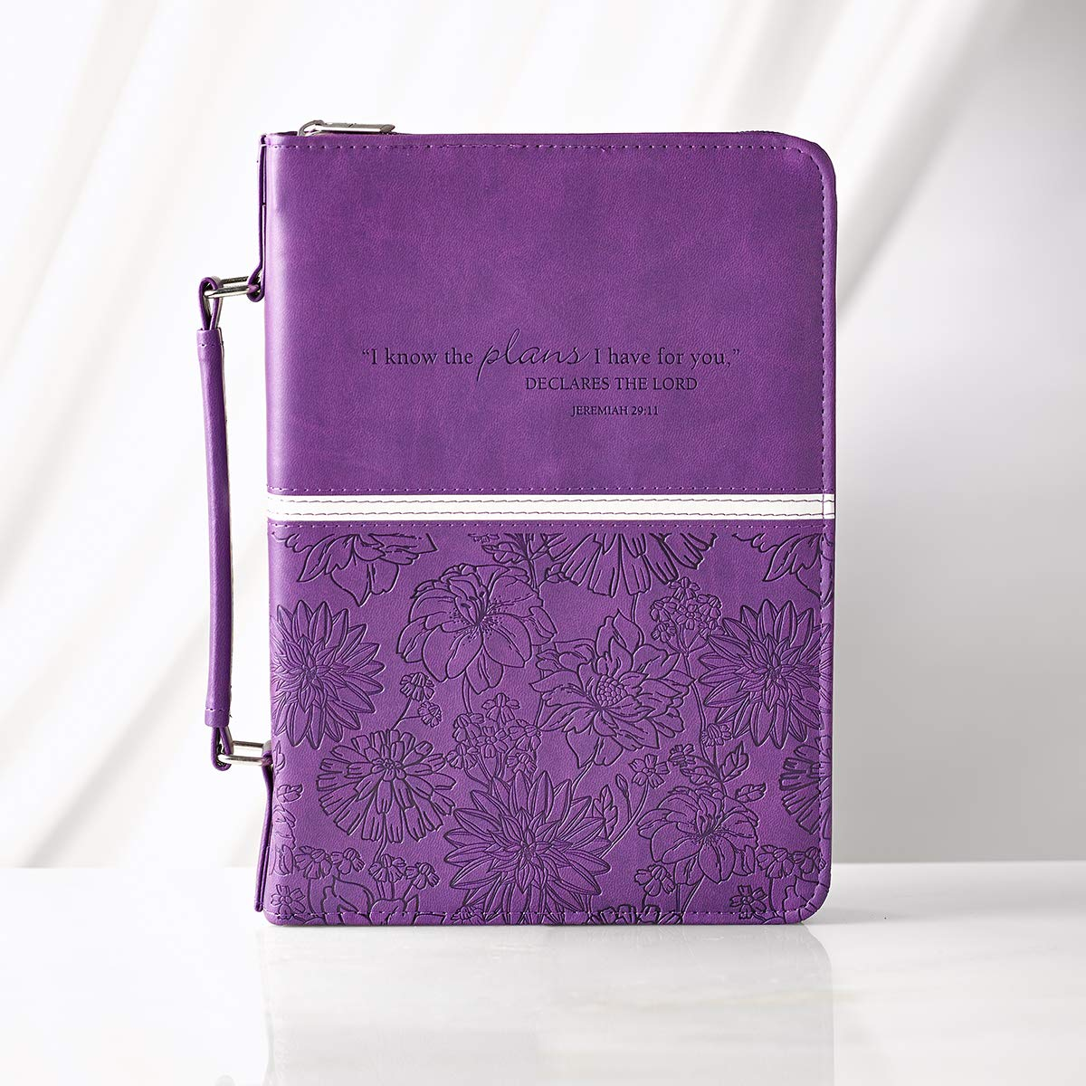 Amazon.com: Floral Embossed Bible / Book Cover - Jeremiah 29:11 (Large,  Purple) (6006937109643): Christian Art Gifts: Books