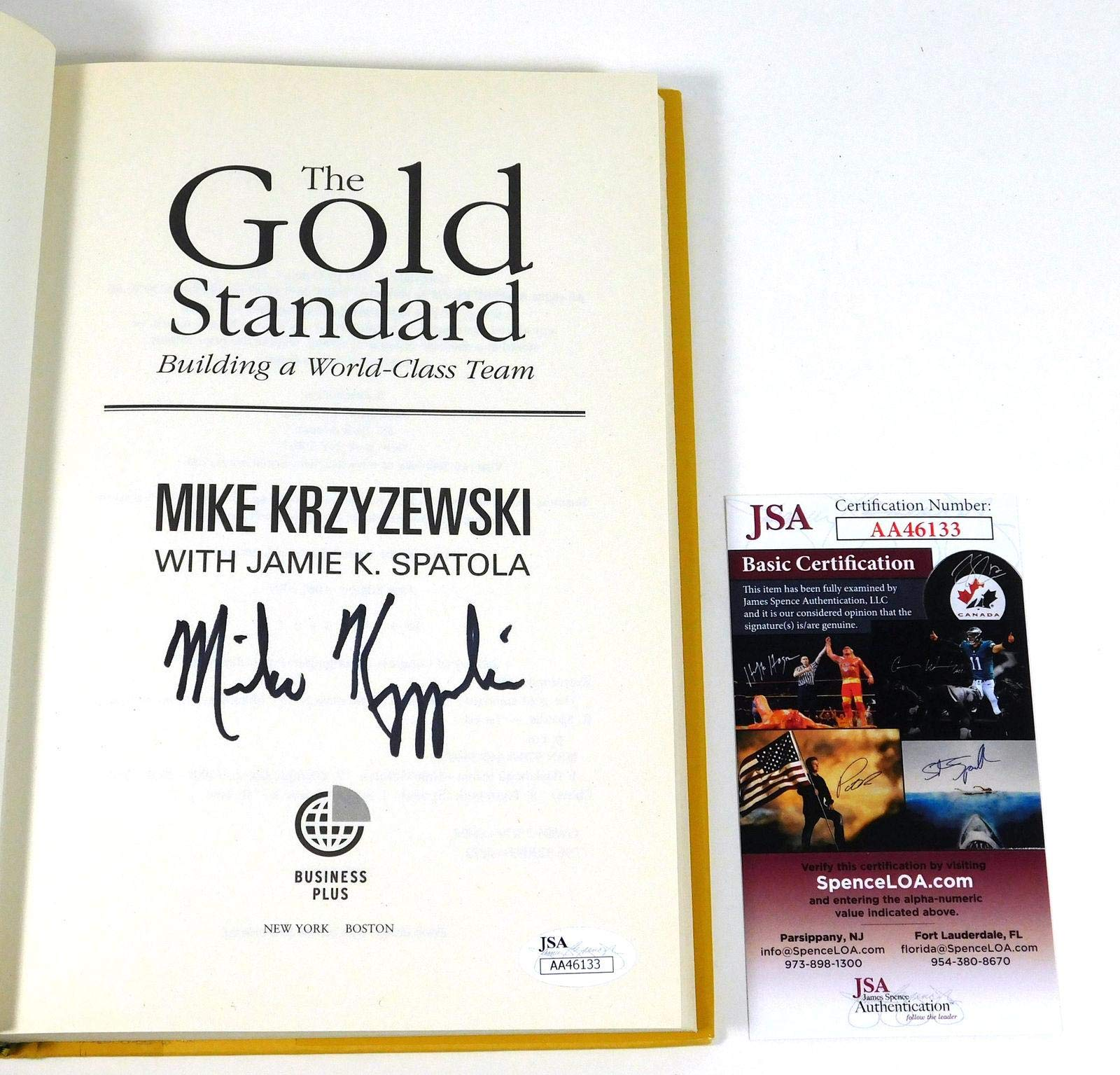 Mike Krzyzewski Signed The Gold Standard Hardcover Book Auto JSA Certified Autographed College Magazines
