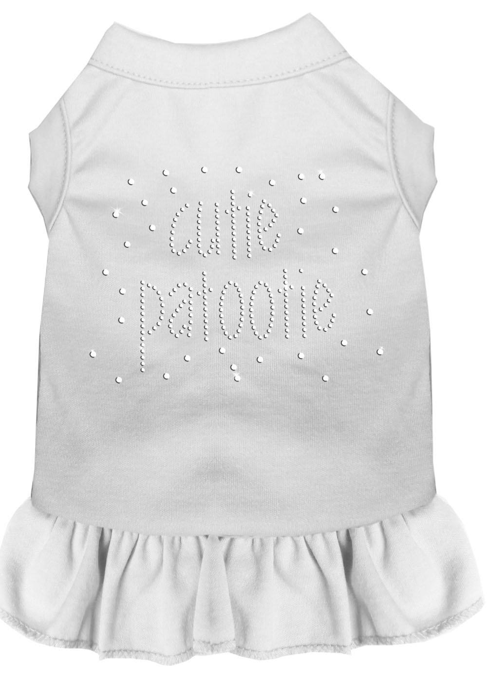 Mirage Pet Products Rhinestone Cutie Patootie Dress, X-Large, White
