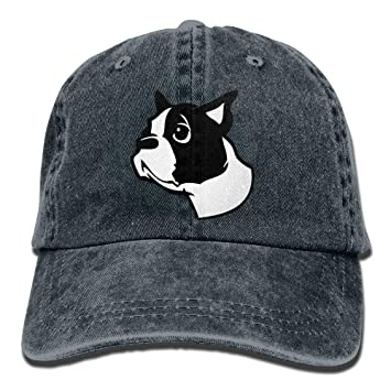 ONGH Boston Terrier Denim Gorras de béisbol Sombrero Ajustable ...