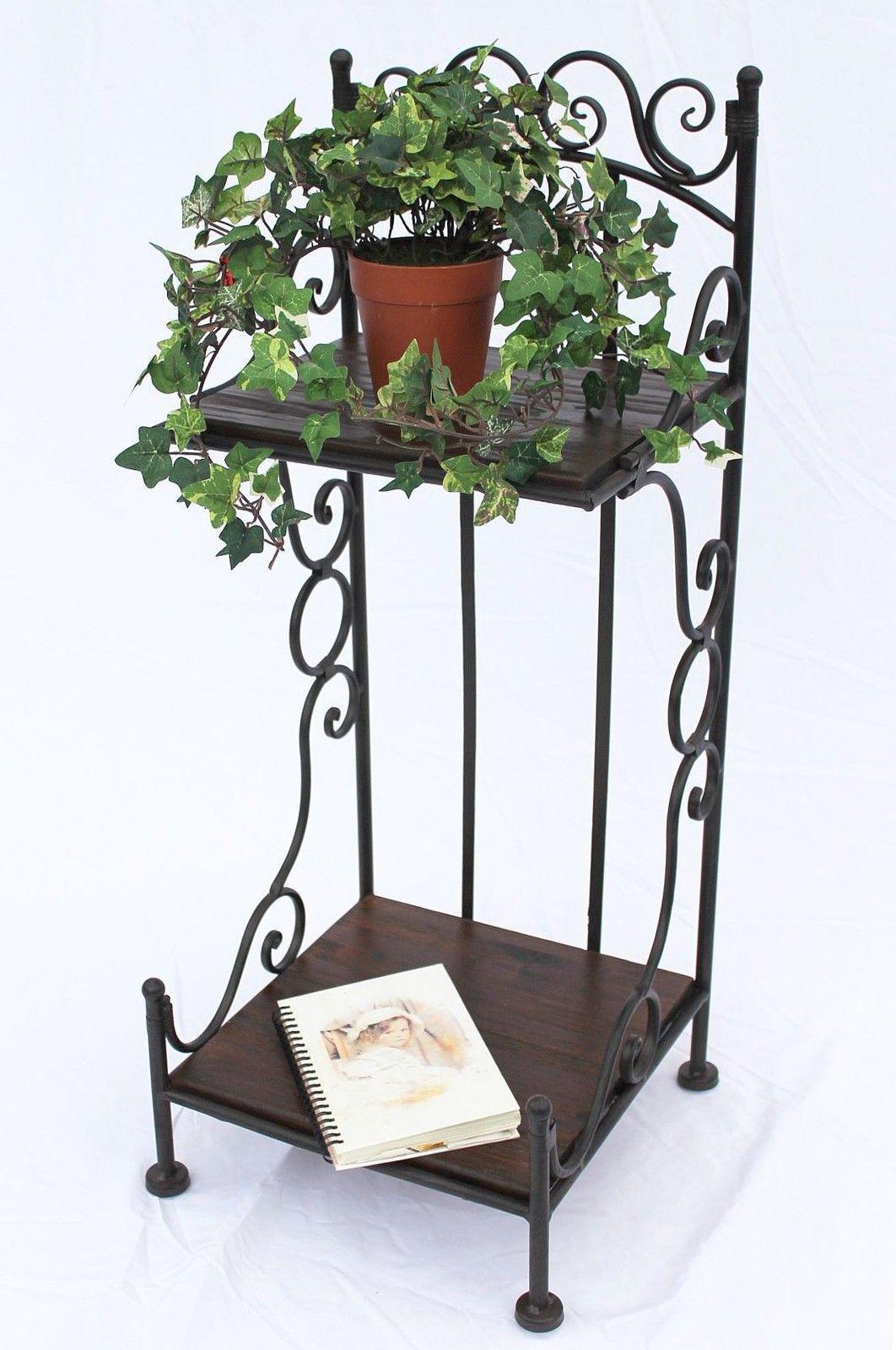 DanDiBo Shelf HX12585 Made from Metal and Wood 80 cm Book Shelf Bathroom Shelf Brown