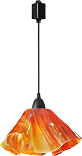 product image for Jezebel Signature Lily Track Lighting Pendant Large. Hardware: Brown. Glass: Zinnia