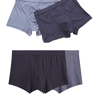 AlingDa Mens Boxer Briefs Colors Assorted Modal Underwear 4 Pack and Ice Silk Underwear 3 Pack L-3XL at Men's Clothing store
