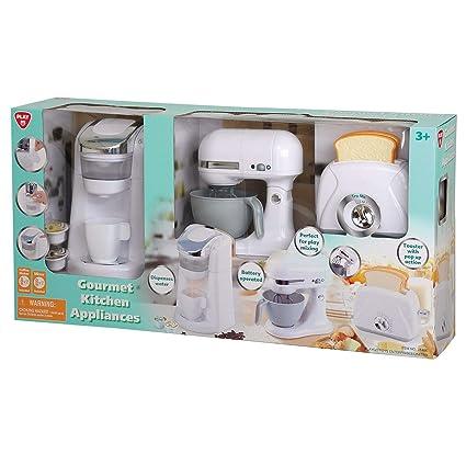 Amazon Com Playgo Gourmet Kitchen Appliances White Real Sounds