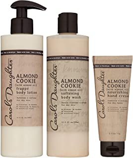 product image for Carol's Daughter Almond Cookie Body Gift Set For Dry Skin, Blended with Almond Oil, Contains Sulfate Free Body Wash, Hand Cream, and Body Lotion, Paraben Free