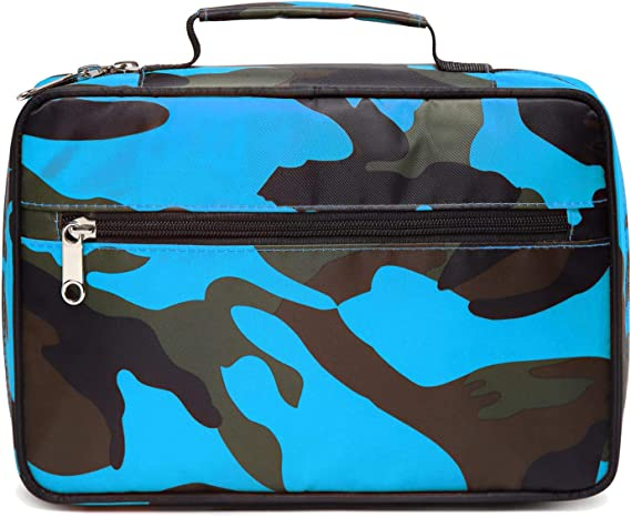 Mens Mans Boys Camo Bible Scripture Book Tote Protective Carrier Holder Cover Case