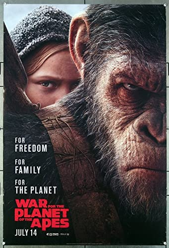 War For The Planet Of The Apes 2017 Original Movie Poster Woody Harrelson Andy Serkis Style B Teaser Film Directed By Matt Reeves At Amazon S Entertainment Collectibles Store