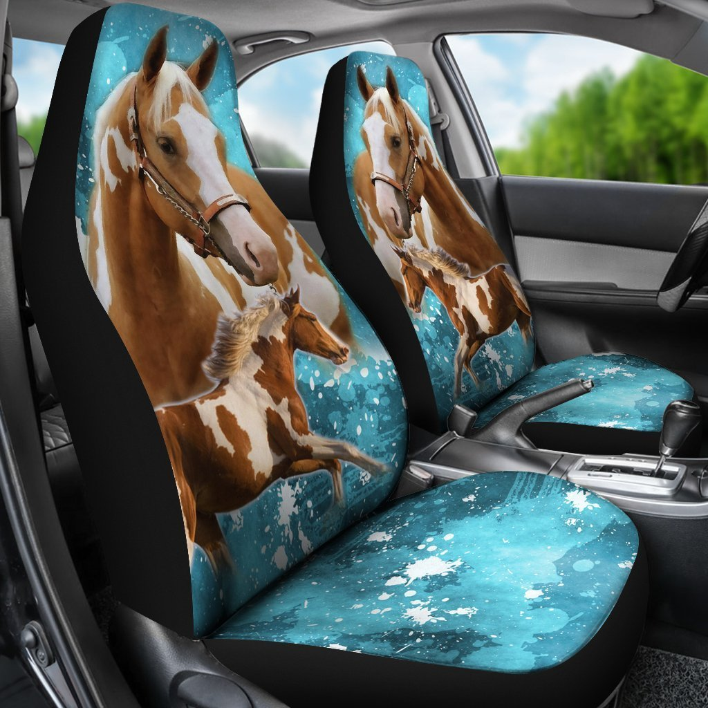 Best Friend and Print American Paint Horse Print Car Seat Covers