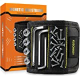 Magnetic Wristband Tools Gifts for Men, KUSONKEY Tool Belt with 15 Magnets for Holding Screws/Nails/Drill,Christmas Gadgets G