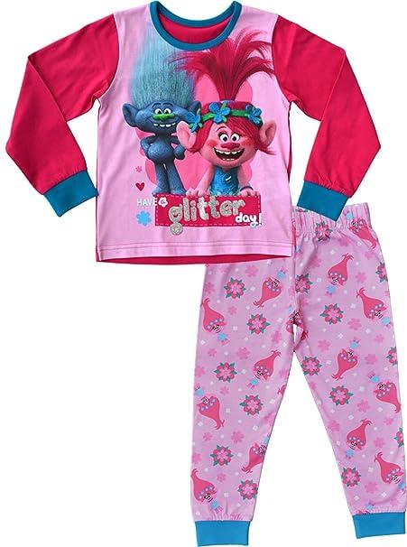 Trolls Pijama Niña PJs Ropa de dormir Edades de 3 a 10 años (4-