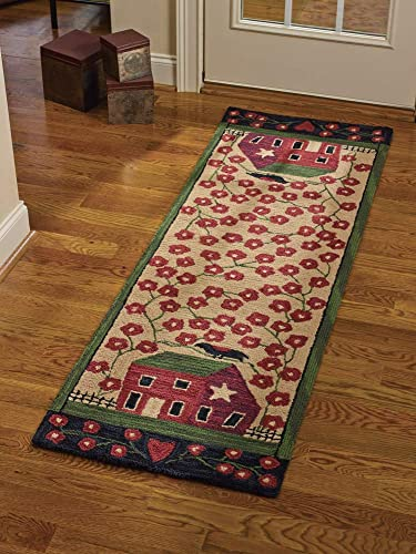 Park Designs Red House Hook Rug Runner 24X72, 24 x 72