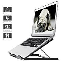 1home Adjustable Laptop Tablet Stand Notebook Riser Holder Ergonomic Portable MacBook