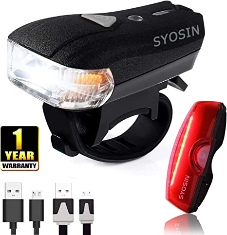 SUPERSTA Luces de Bicicleta, Sensores Inteligentes LED Recargables ...