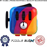 Premium Fidget Cube Toy for Stress Relief, ADHD - Get the Original 6 Features Fidgeting Toy That Lasts by Fiddle Blox - Sensory, Anti-Anxiety, Hands Dice for Kids & Adults with Free Fidget Ebook