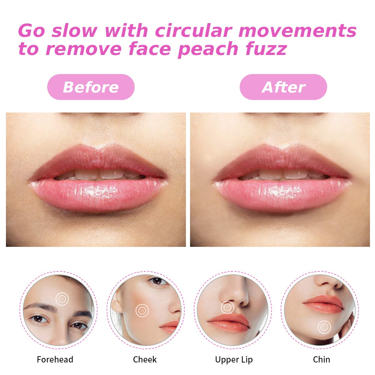 Facial Hair Removal for Women-ProCIV Painless Hair Remover Nose Hair Trimmer Eyebrow Shaver Waterproof Hair Remover Body Shaver Beard Trimmer USB Electric Rechargeable 5 in 1 Grooming