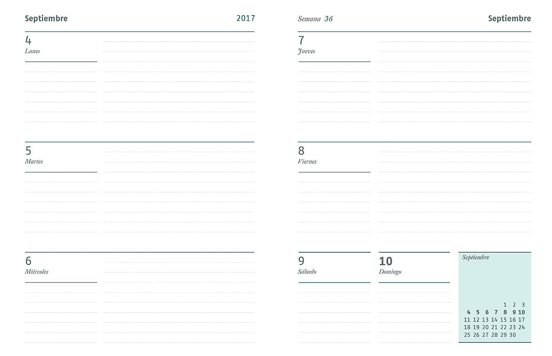 Additio P212 - Agenda para el profesorado 2017-2018, colores aleatorios