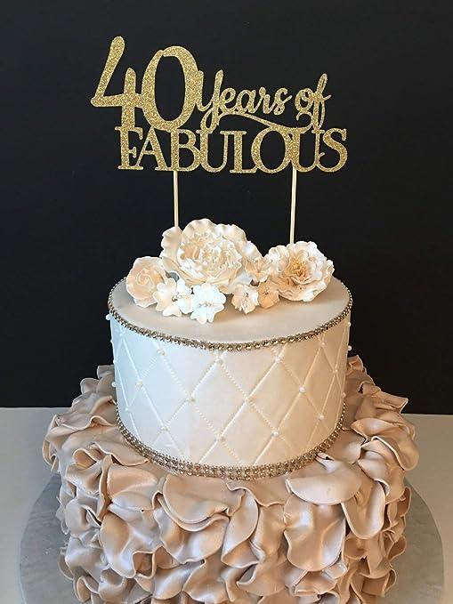 Decoración para Tarta de 40 cumpleaños con diseño de ...