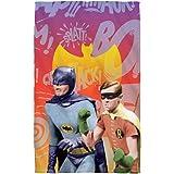 """Biff Bang Pow -- Batman Classic TV Show -- Beach Towel (36"""" x 58"""")"""