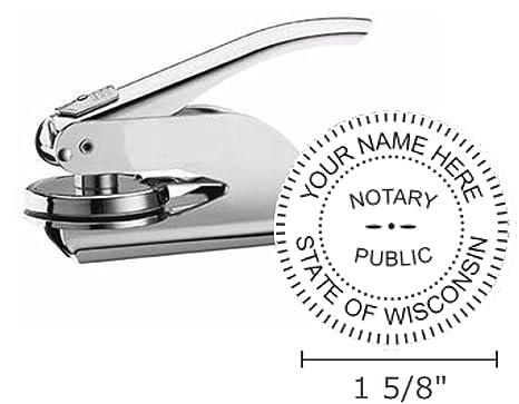 Wisconsin Notary Seal Embosser Pocket Hand Model 1 5 8quot