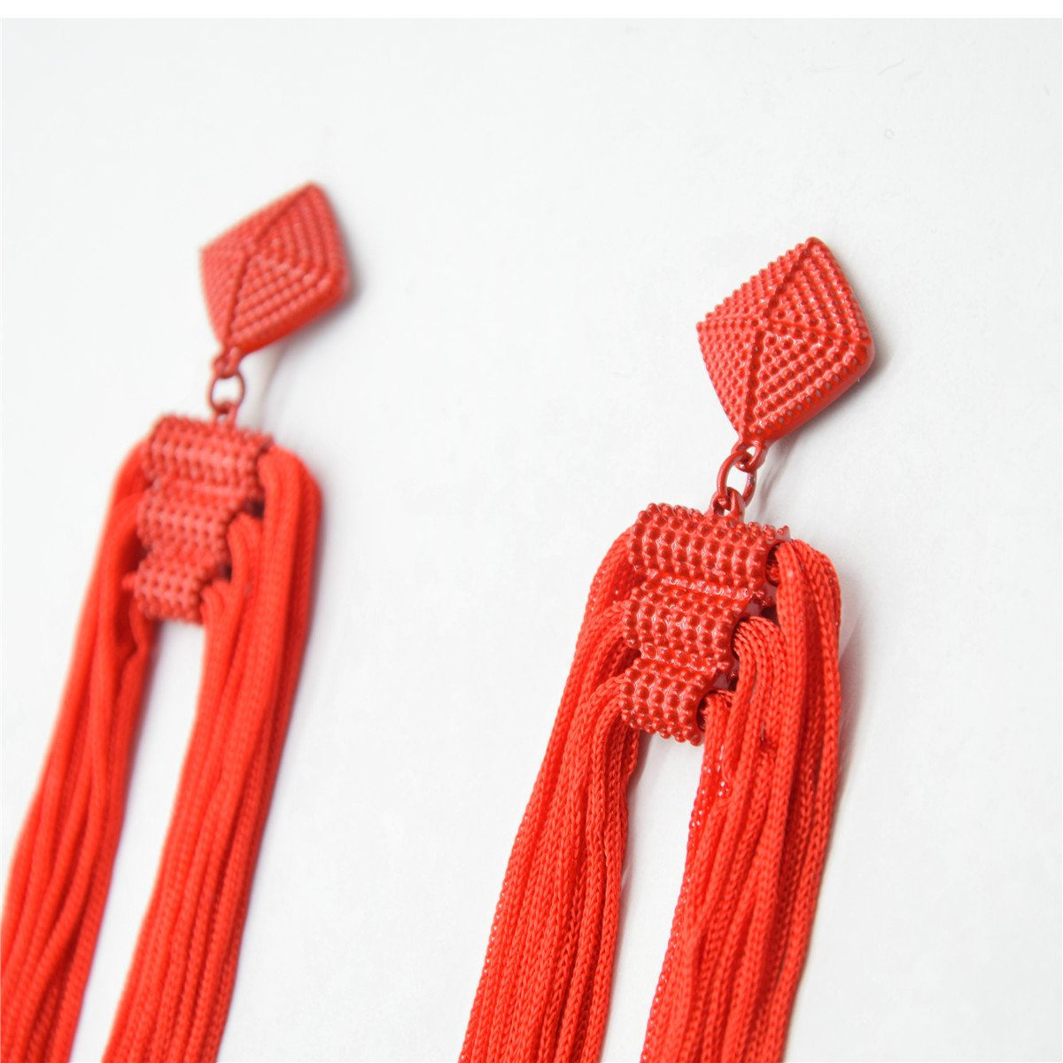 Tassels Long Thread Fringe Dangle Statement Drop Earrings
