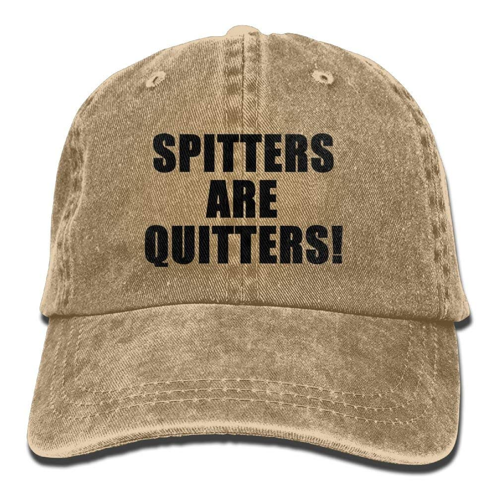 Spitters are Quitters Unisex Denim Baseball Cap Adjustable Snapback Hats