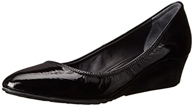 Cole Haan Women's Tali Luxe 40 Wedge Pump, Black Patent, ...
