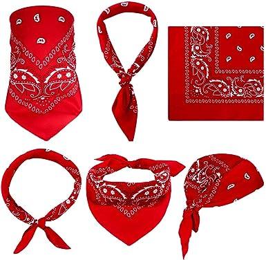 ZYXY - Juego de 12 pañuelos de cachemira 100% algodón, bandana de ...