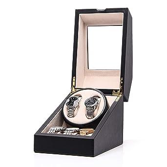 Amazon Com Hezala Automatic Double Watch Winder With Quiet Mabuchi