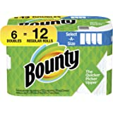 Bounty Select-A-Size Paper Towels, White, 6 Double Rolls = 12 Regular Rolls