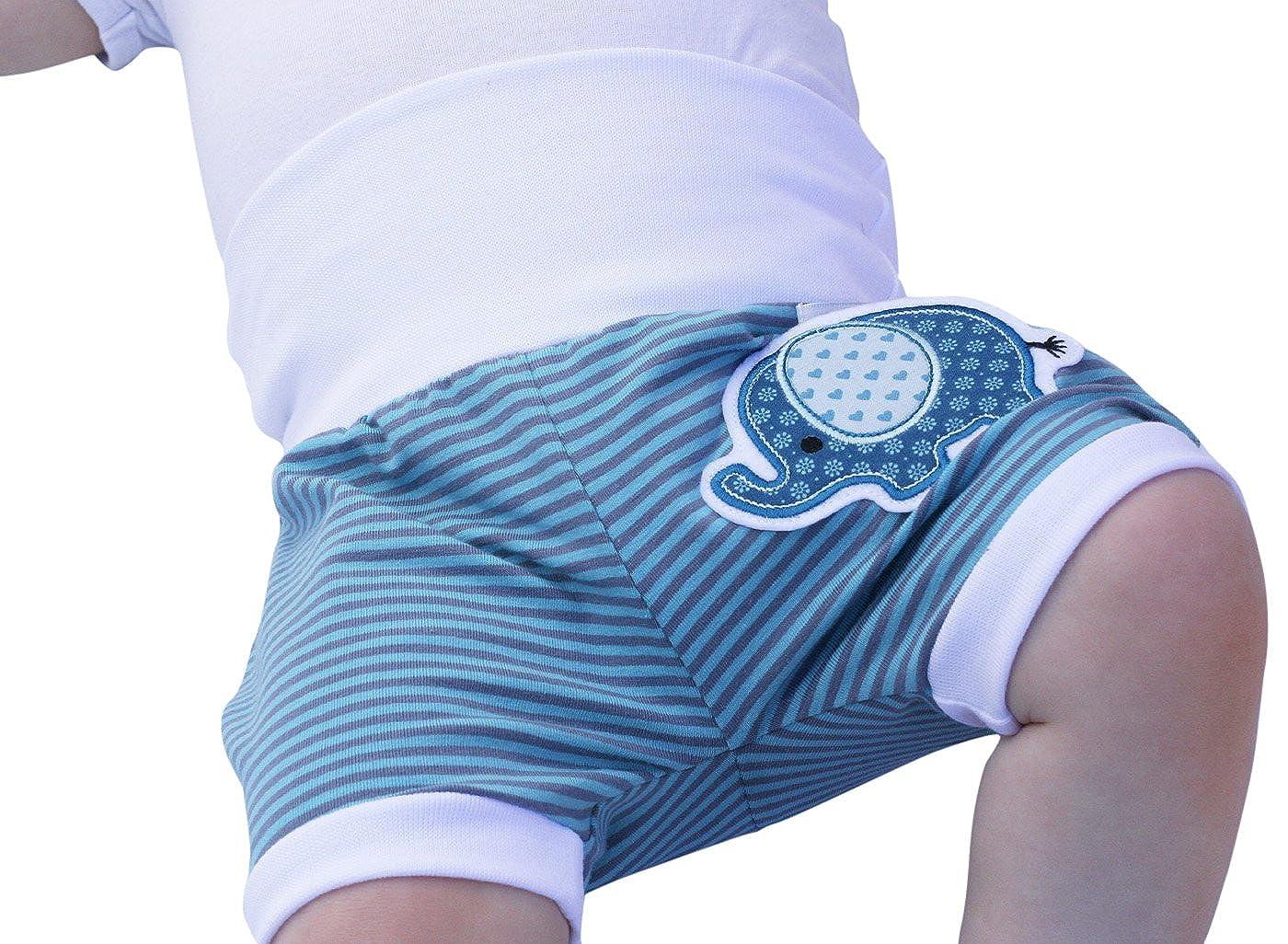 Lilakind Kurze Pumphose Shorts Buxe Sommerhose Elefanten Applikation - Made in Germany