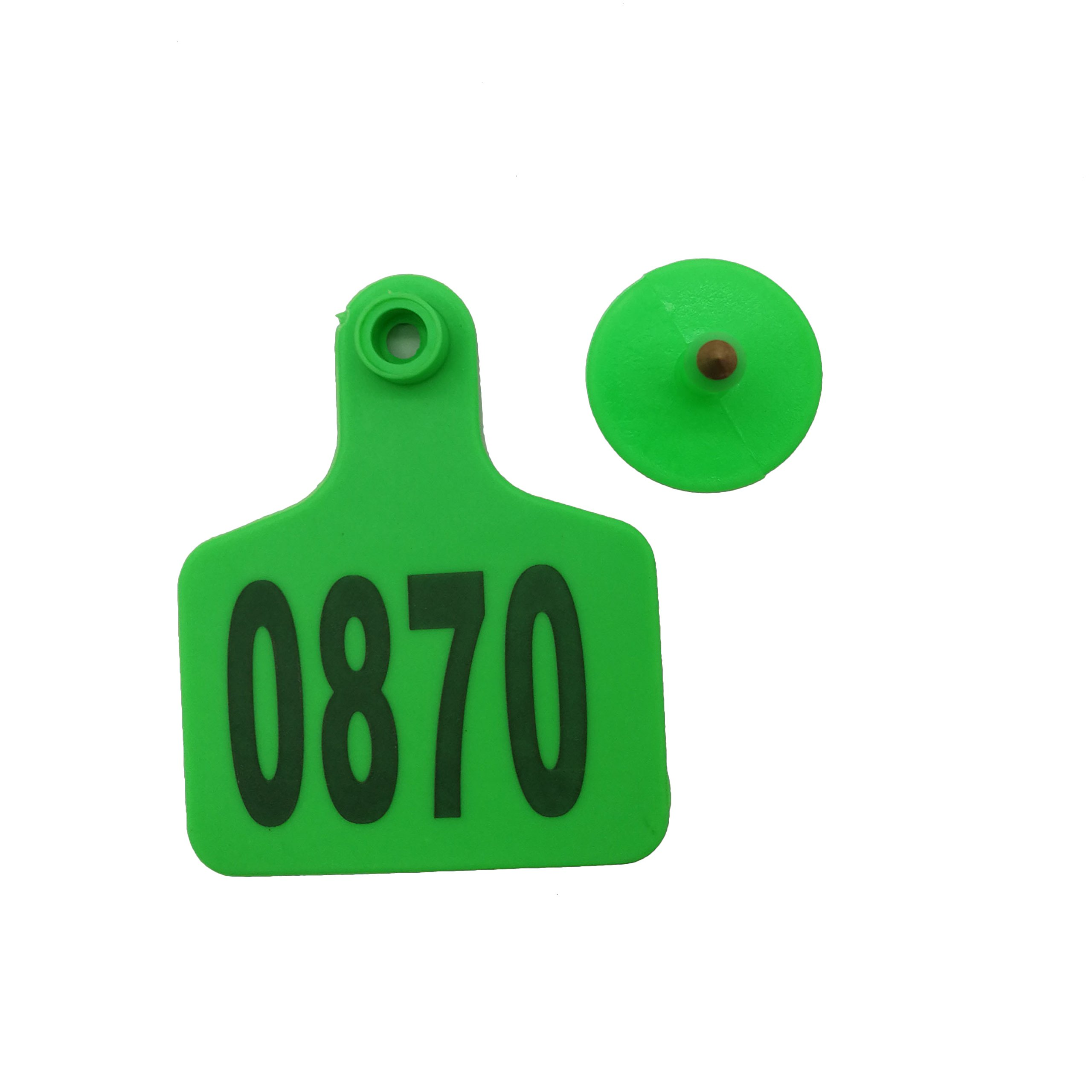 NO 001~1000 TPU Green Home Farm Animal Pet Cow Cattle Large Plastic Livestock Ear Tag Marked Identification