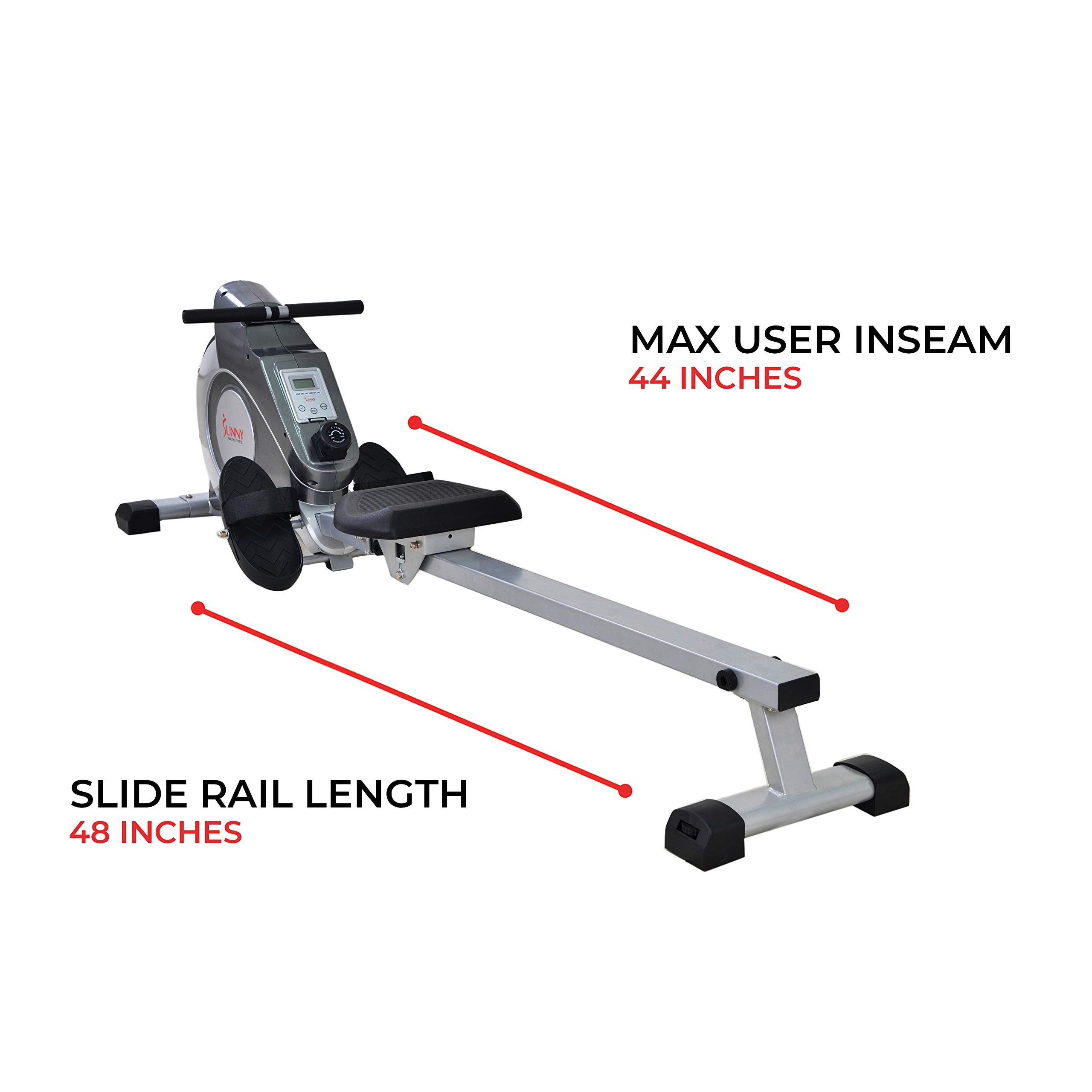 Sunny Health & Fitness Magnetic Rowing Machine with LCD Monitor by SF-RW5515 by Sunny Health & Fitness (Image #14)
