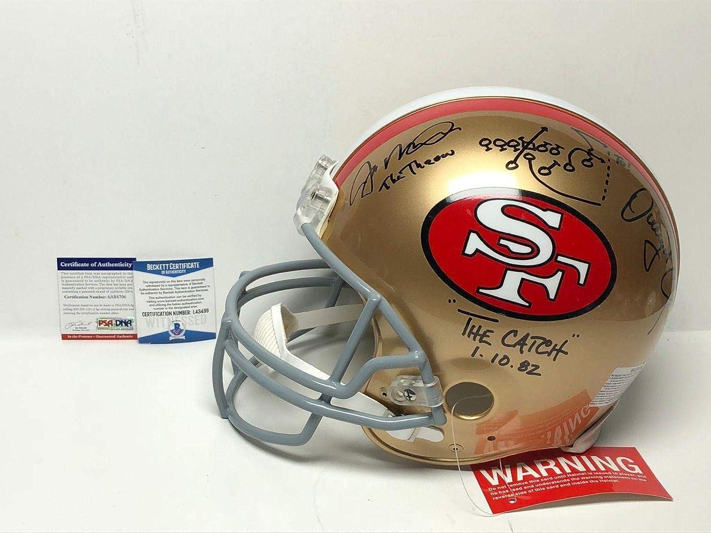Amazon.com: Joe Montana & Dwight Clark Signed San Francisco 49ers F/S  Proline Helmet BAS - PSA/DNA Certified - Autographed NFL Helmets: Sports  Collectibles