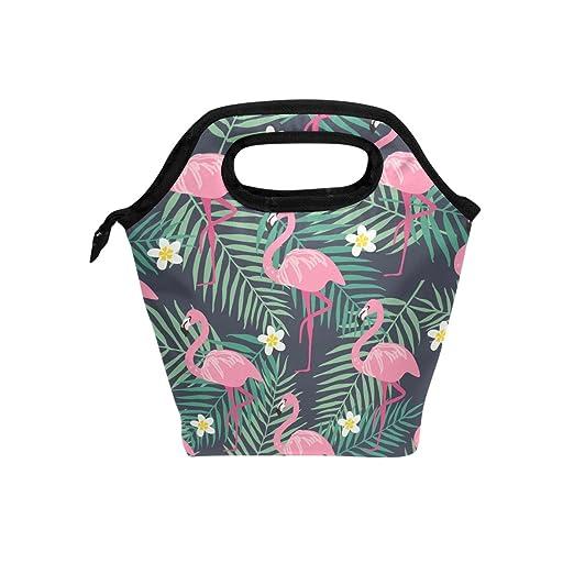 JSTEL Flamingo - Bolsa de almuerzo para pájaros y hojas ...