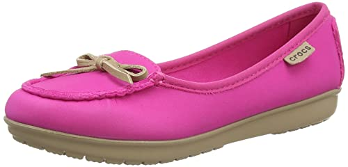 Crocs Wrap ColorLite Ballet Flat W - Mocasines de Material Sintético para Mujer Rosa Pink (Candy Pink/Tumbleweed) 33.5: Amazon.es: Zapatos y complementos