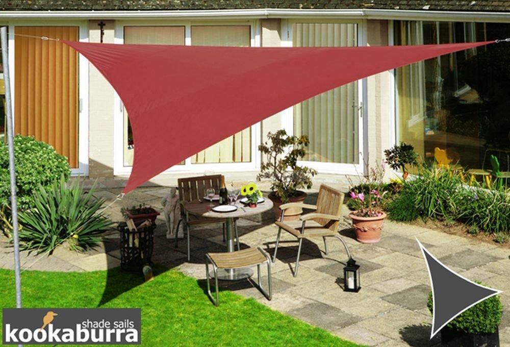 クッカバラ 日除けシェードセイル マルサラレッドカラー 3m正三角形 紫外線98%カット 防水タイプ OL3683SST B010BC5V3C 14100 正三角形: 3 x 3m  正三角形: 3 x 3m