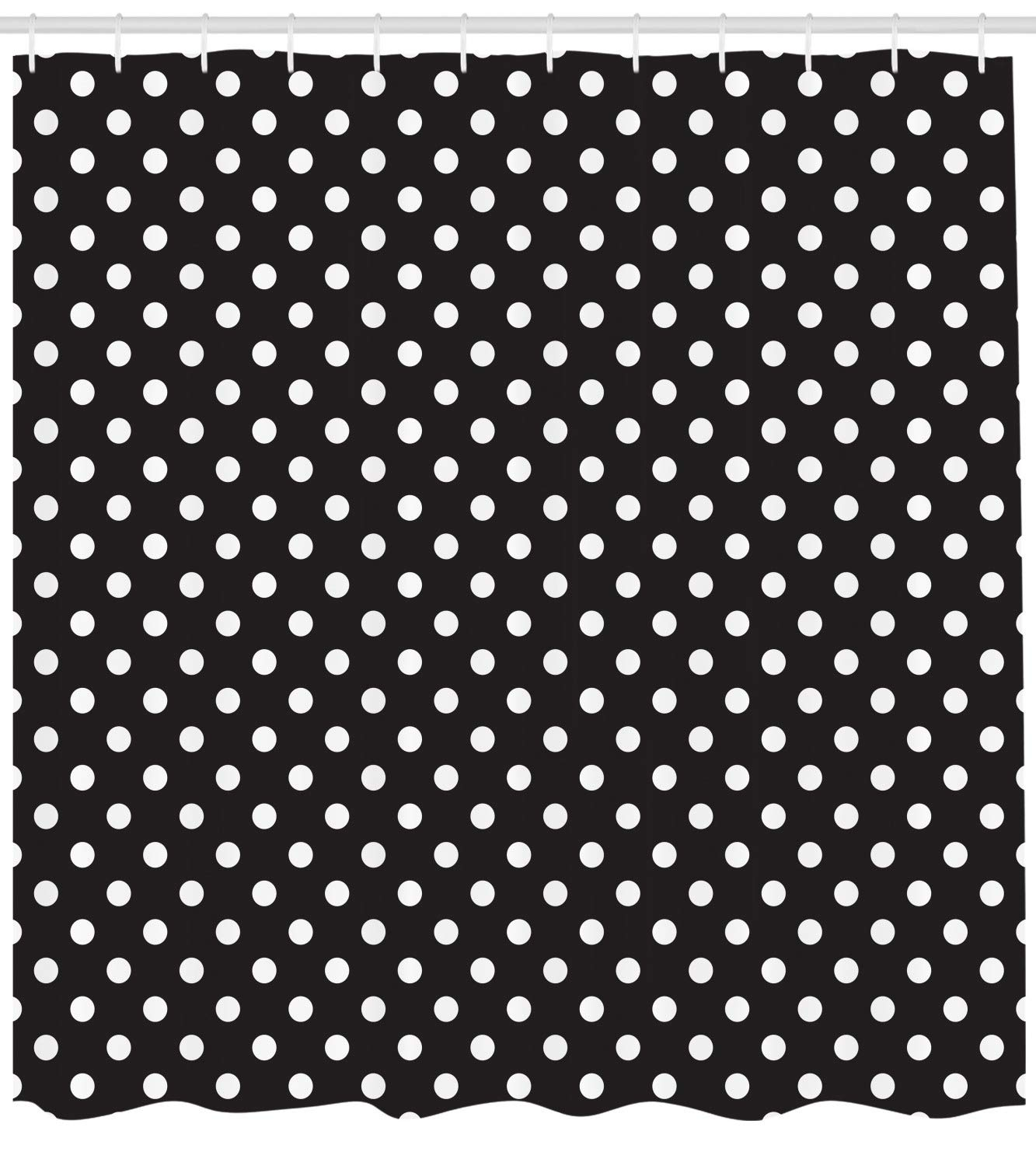 Amazoncom Ambesonne Dots Shower Curtain Classical Pattern Of