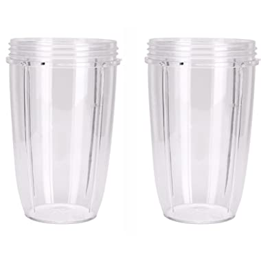 Preferred Parts NutriBullet Replacement Cups (Tall - 24-Once)   Premium NutriBullet Replacement Parts and Accessories (Pack of 2)